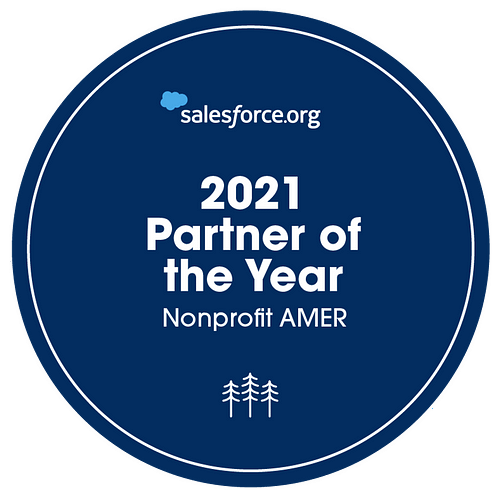 2021 Salesforce.org Partner of the Year Badge